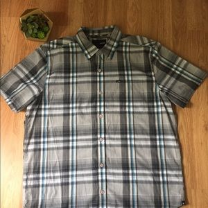 Hurley Blue/Black Plaid Button Down Shirt